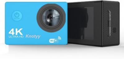 Knotyy Action Camera 4k Sports and Action Camera  (Blue, 16 MP)