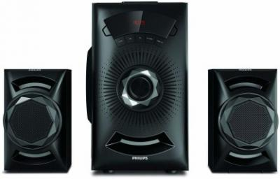 Philips MMS2143B/94 40 W Bluetooth Home Audio Speaker  (Black, 2.1 Channel)