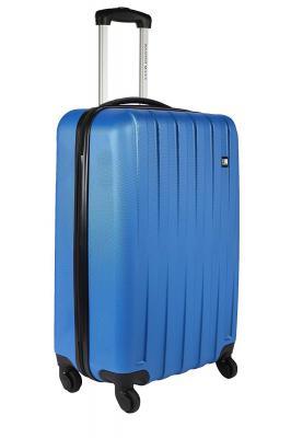 Nasher Miles Zurich Polycarbonate Hard-Side Cabin Luggage|Blue 20 Inch /55CM Trolley Bag
