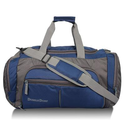 Dussle Dorf Polyester 45 Liters Navy Blue and Grey Travel Duffle Bag