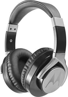 Motorola Pulse Max Wired Headset with Mic  (Black, Over the Ear)