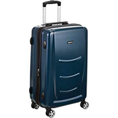 AmazonBasics 55 cm Hardshell Cabin Size Suitcase, Navy Blue