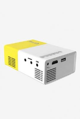 Merlin LCD Pocket 20 Lumen LED Portable Projector (Yellow/Grey)