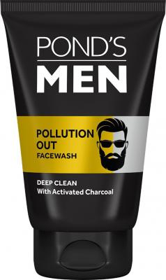 Ponds Men Pollution Out Activated Charcoal Deep Clean Facewash Face Wash