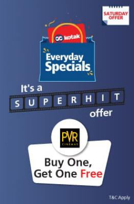 Kotak Super Saturdays : Buy 1 Ticket & Get 1 free