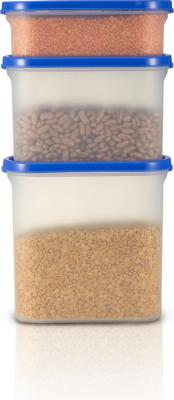 Flipkart SmartBuy Modular Containers - 525 ml, 1200ml, 1800ml - Plastic Grocery Container