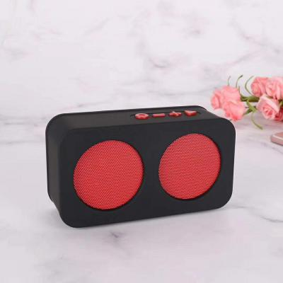 Live Tech Melody Portable Wireless Bluetooth Speakers (Red)