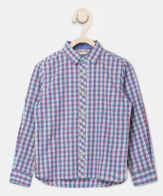 Miss & Chief Boys Checkered Casual Multicolor Shirt