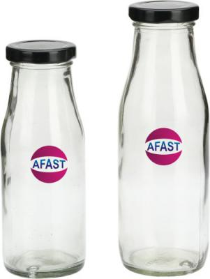 Afast Stylish Transparent Bottle Cum Container Of Glass With Lid Set Of Two  - 300 ml Glass Pickle Container &Salt Peppe