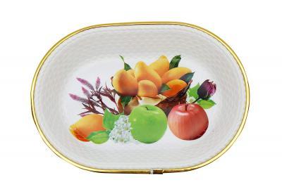 Tosaa Mix Fruit Plastic Tray, 31cm, White