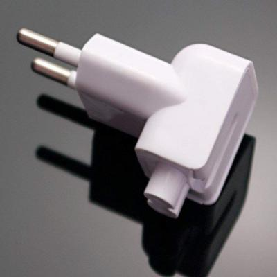 Indian Style/EU Plug Adapter Duck Head for Power Adapters of Apple MacBook, Powerbook, Pro, Air, iPod, iPhone, iPad, iBo