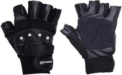 Strauss Pro Leather Gym &Fitness Gloves
