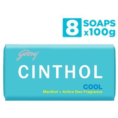Cinthol Cool Soap, 100 g (Pack of 8)