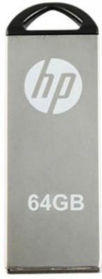 HP V-220 W 64 GB Pen Drive  (Grey)