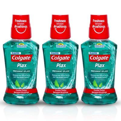 Colgate Plax Fresh Mint Mouthwash, 250ml (Pack of 3)