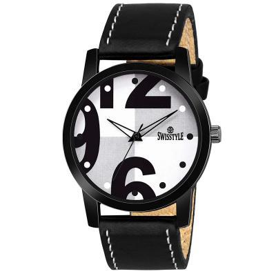 Swisstyle Analog-Digital White Dial Men's Watch-SS-GR089-WHT-BLK