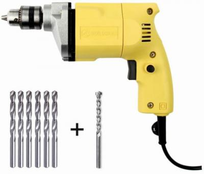 Buildskill 10mm Professional Electric Heavy Duty with 7 High Quality Bits BED1100+Bits Pistol Grip Drill