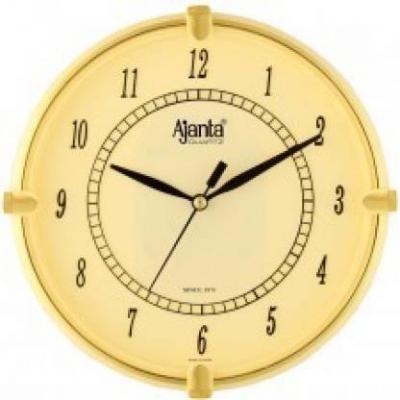 Ajanta Analog 18.8 cm X 4 cm Wall Clock  (Beige, With Glass)
