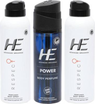HE Combo pack Perfume Body Spray - For Men (420 ml)