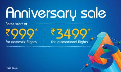 Grab lowest airfare sale starting at just Rs.999* IndiGo