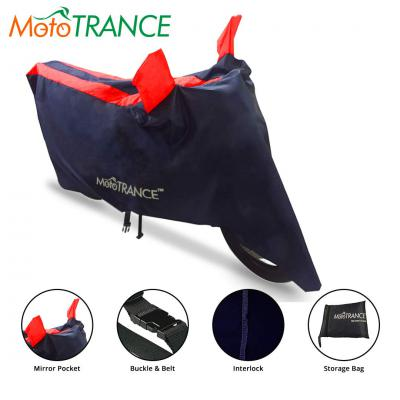Mototrance Sporty Arc Blue Red Bike Body Cover for Two Wheeler