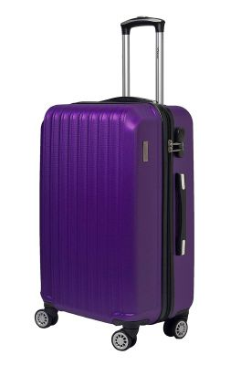 F Gear Ethos ABS 55 cms Purple Softsided Cabin Luggage(2872)