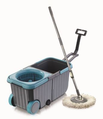 Dreamline Twin Tub Mop Bucket with Wheels - One Refill Free (Blue) Online at Low Prices in India - Paytmmall.com