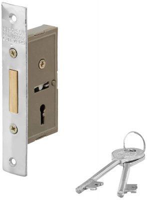 Buy Harrison H-0609 38mm Iron Three Lever Dead Mini Super Lock Set (Silver) Online at Low Prices in India - Amazon.in
