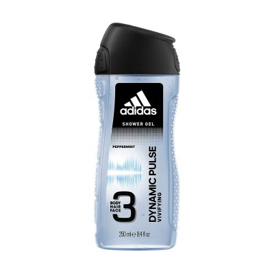 Adidas Dynamic Pulse 3 In 1 Body, Hair And Face Shower Gel