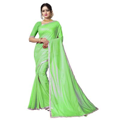 Being Banarasi womens poly silk solid saree