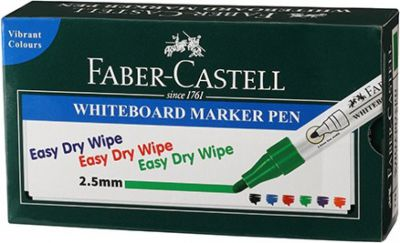 Faber-Castell Whiteboard Marker Green Box  (Set of 10, Green)