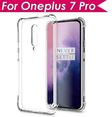 WOW Imagine Flexible Shockproof Crystal Clear TPU Back Cover for OnePlus 7 Pro