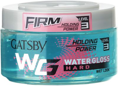 Gatsby Leather Water Gloss Hard, Blue, 150g