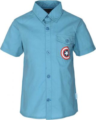 Captain America Boys Printed Casual Light Blue Shirt - Buy Captain America