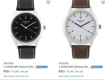 Maxima Men's Watch Upto 72 % Off
