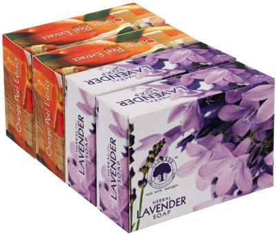 Buy Old Tree Herbal Soap, Lavender and Orange Peel, 120g (Pack of 4) Online at Low Prices in India - Amazon.in