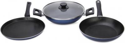 Pigeon Essential Cookware Set (Aluminium, 3 - Piece)
