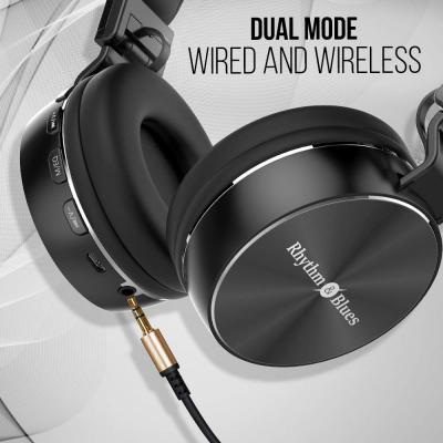 Rhythm&Blues A450BT On-Ear Bluetooth Wireless Headphones with Mic