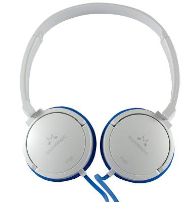 SoundMagic P10S Headphones with Mic (White/Blue)