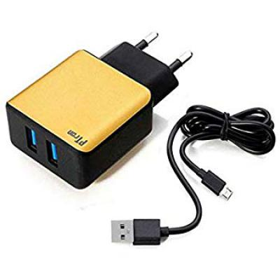 PTron Electra Fast Charger 2.4A Dual USB Port & Cable
