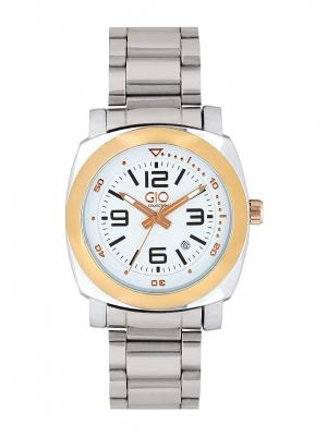 Gio Collection Analog White Dial Men's Watch