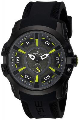 Titan HTSE 3 Analog Black Dial Men's Watch - 1630NP02