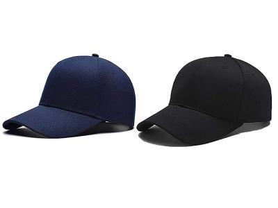 SHVAS Combo of Unisex Black & Blue Plain Cap - Pack of 2 caps [PLAINBLKBLUCAPCOMBO]