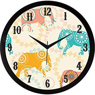 Buy IT2M 11.75 Inches Designer Wall Clock for Home/Living Room/Bedroom/Kitchen