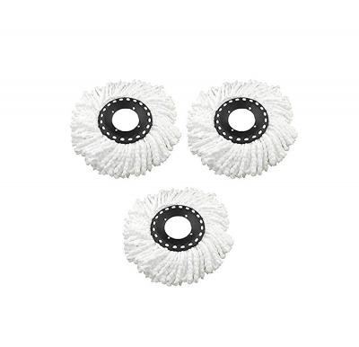 Esquire Universal Fit Spin Mop Refill Micro Fibre Head, (White) - Pack of 3