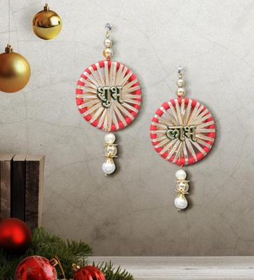 Multicolor Shubh Labh Hanging by Art of Jodhpur