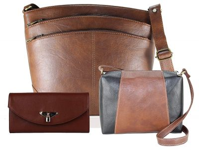 Fargo Sun'dry PU Leather Women's & Girl's Side Sling Shoulder Bag With Sling Bag And Hand Clutch Combo Of 3 (Brown_FGO-196)
