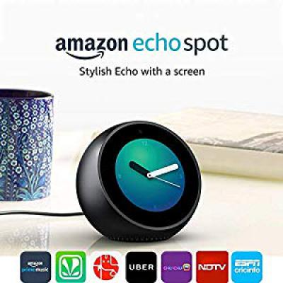 Echo Spot & Smart Alarm Clock with Alexa