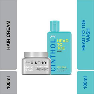 Cinthol Hair and Body Care Cool Wave Plus Natural Shine Combo, 290ml