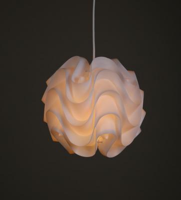 Adara White Metal Hanging Light by CasaCraft